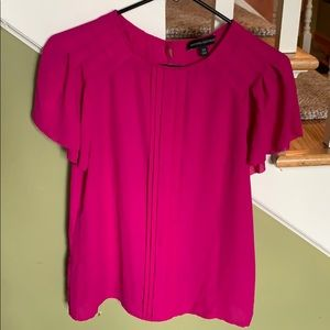 Banana Republic pleated short sleeve blouse